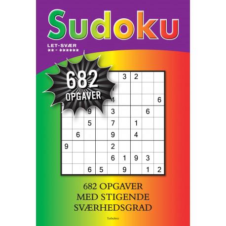 Sudoku: Let til svær med 682 opgaver