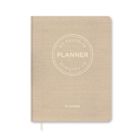 MY FAVORITE PLANNER Udateret Planner / Lys Sand: Kalender Udateret / Lys Sand