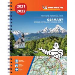 Michelin Tourist & Motoring Atlas Germany, Benelux, Austria, Switzerland, Czech Republic 2021-2022
