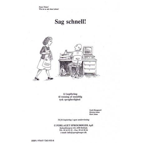 Sag schnell: 12 kopiforlæg til træning af mundtlig tysk sprogfærdighed