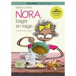 Nora bager en kage