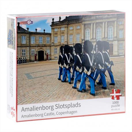 Puslespil med Dansk Motiv - Amalienborg - 1000 brikker