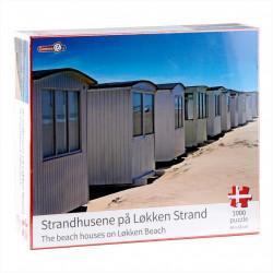 Puslespil med Dansk Motiv - Strandhusene på Løkken Strand - 1000 brikker