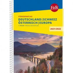 Deutschland, Österreich, Schweiz, Falk Strassenatlas 2021/2022