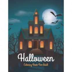 Halloween coloring book for adult: Halloween Fantasy Coloring Book For Adult Relaxation
