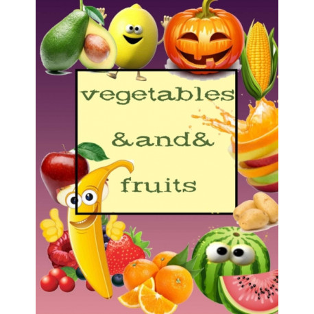 Vegetables And Fruits: Coloring Book/orange/lychee/potato/lemon/PEA/pumpkin/