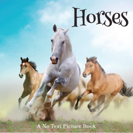 Horses, A No Text Picture Book: A Calming Gift for Alzheimer Patients and Senior Citizens Living With Dementia