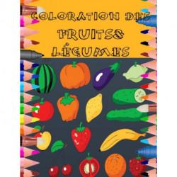 Coloration Des Fruits&legumes: 200 pages- pour les enfants