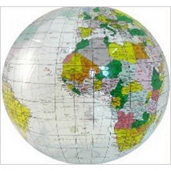 Clear Ocean Inflatable Globe 40 cm - Oppustelig transparent globus