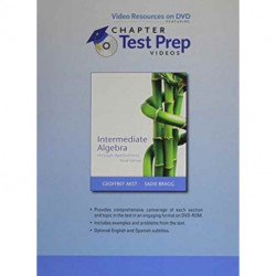 Video Resources on DVD with Chapter Test Prep Videos for Intermediate Algebra through Applications
