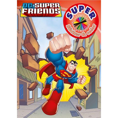DC Superfriends - Super Sticker & Color