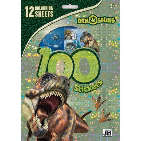 Aktivitets-sæt med dinosaurer