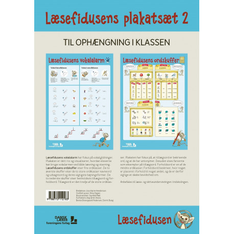 Læsefidusens plakatsæt 2: Nyt dansksystem til 0.-2. klasse