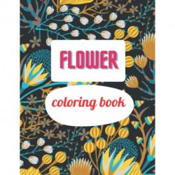 Flower coloring book: A Coloring Book of 35 Unique garden Coe Stress relief Book Designs Paperback