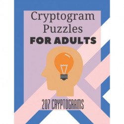 Cryptogram puzzles for adults: Word puzzles for adults & seniors - Memory games for adults - New logic training - Activity crossword puzzles - Quarantine activities for adults
