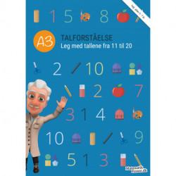 A3 - Talforståelse, Leg med tallene fra 11 til 20: MatematikFessor træningshæfte (1 stk)