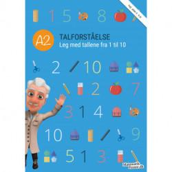 A2 - Talforståelse, Leg med tallene fra 1 til 10: MatematikFessor træningshæfte 1stk.