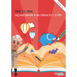 Prik til prik - Leg med tabeller & lær tallene fra 1 til 300: MatematikFessor træningshæfte 1stk.