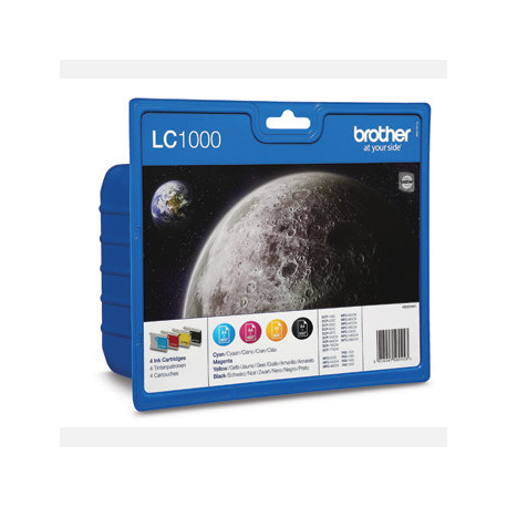 Brother LC1000 CMYK ink cartridge value blister (LC1000VALBPDR)