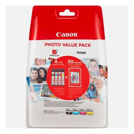 Canon CLI-581XL Photo valuepack & 4x6 PP 201 (50) (2052C004)