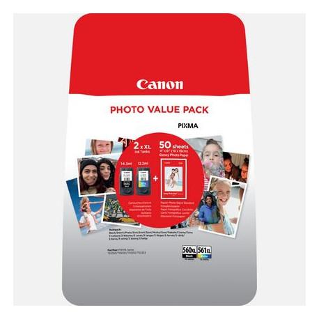 Canon CRG PG-560XL/CL-561XL Photo Valuepack incl. 4x6 photpaper an (3712C004)