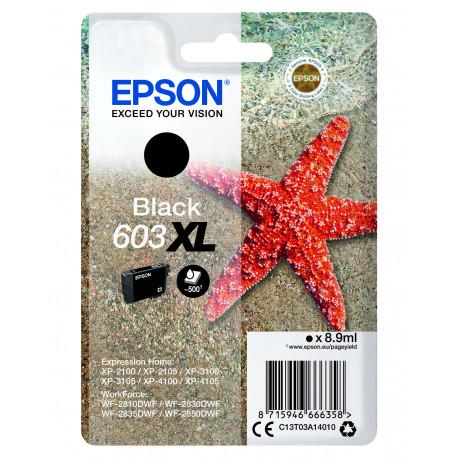 Epson T03U Black 603XL Ink Cartridge w/alarm (C13T03A14020)