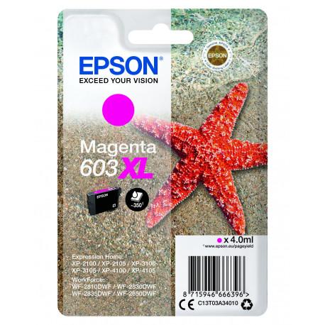 Epson T03U Magenta 603XL Ink Cartridge w/alarm (C13T03A34020)