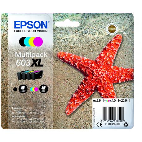 Epson T03U Multipack 4-colours 603XL Ink Cartridge (C13T03A64010)