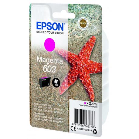 Epson T03U Magenta 603 Ink Cartridge w/alarm (C13T03U34020)
