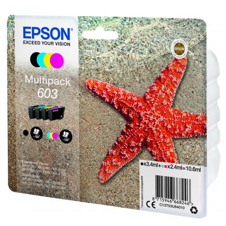 Epson T03U Multipack 4-colours 603 Ink Cartridge (C13T03U64010)