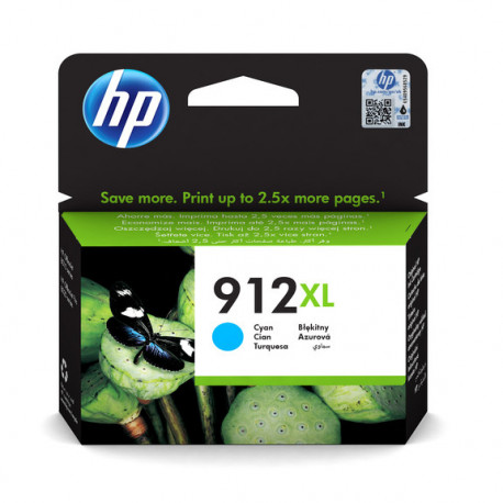 HP No912XL High Yield Cyan Ink Cartridge (3YL81AE-BGX)