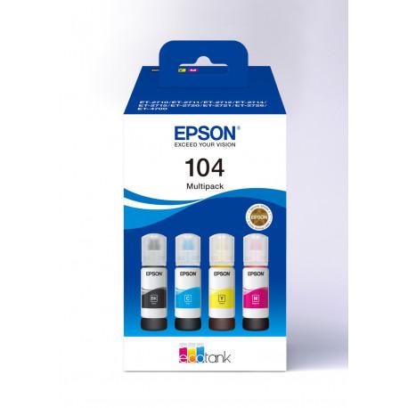 Epson T104 EcoTank 4-colour Multipack (C13T00P640)