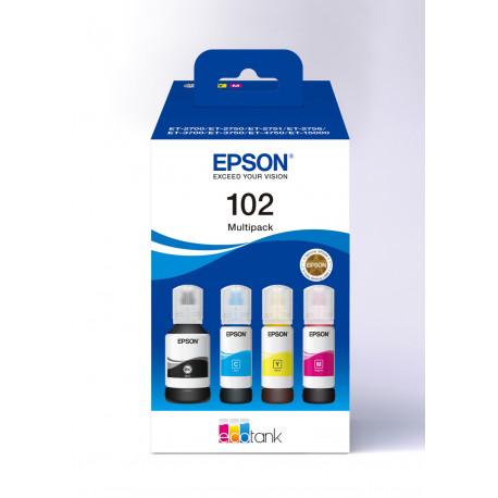 Epson T102 EcoTank 4-colour Multipack (C13T03R640)