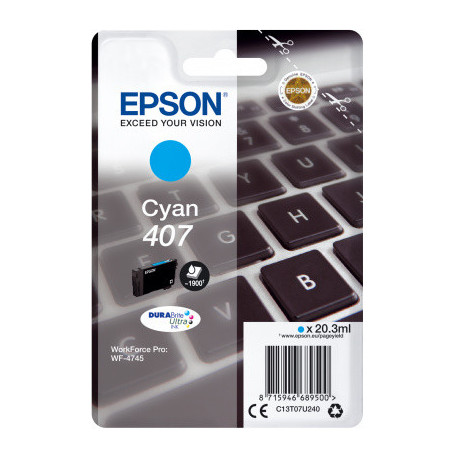 Epson WF-4745 Ink Cartridge L Cyan Ink (C13T07U240)