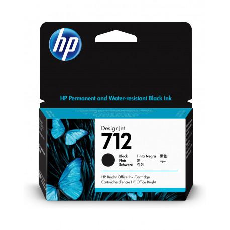 HP 712 38mlBlack DesignJet Ink Cartridge (3ED70A)