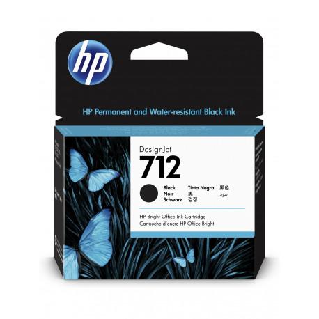 HP 712 80ml Black DesignJet Ink Cartridge (3ED71A)