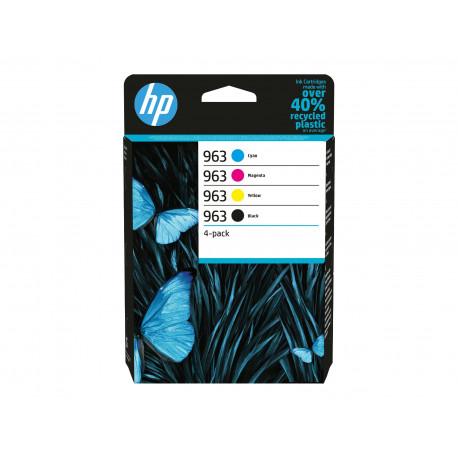 HP No963 C/M/Y/K Ink cartridges 4-pack Blistered (6ZC70AE-301)
