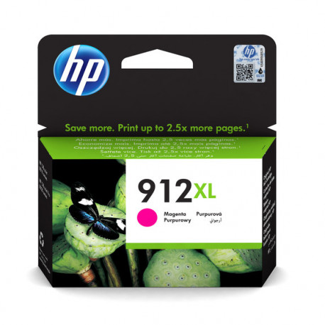 HP No912XL High Yield Magenta Ink Cartridge blistered (3YL82AE-301)