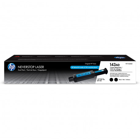 HP 143AD Neverstop Toner Reload Kit 2-Pack (W1143AD)