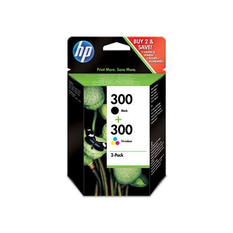 HP No300 black/color ink sampackblistered (CN637EE-301)