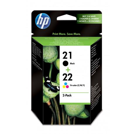 HP No21 / No22 ink (sampack), blistered (SD367AE-241)