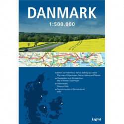 Danmarkskort 1:500.000