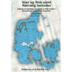 Voer og Nim samt Nørvang herreder: uddrag af samtlige bevarede 2.959 skifter i herredernes godser og hospitaler - 1716-1850