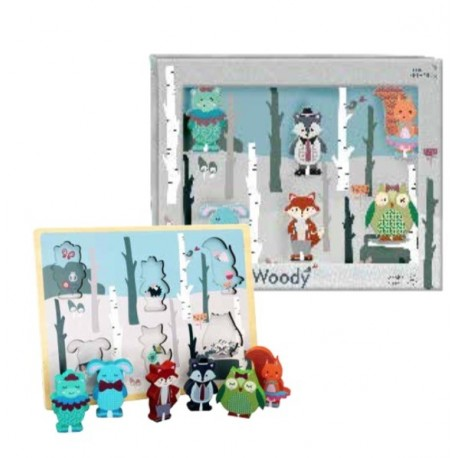 Chunky woody Puzzle: Forest Friends