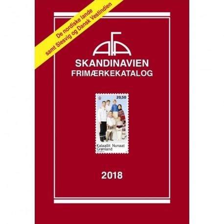 AFA Skandinavien frimærkekatalog: de nordiske lande samt Slesvig og Dansk Vestindien (Årgang 2018)