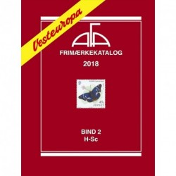 AFA Vesteuropa frimærkekatalog - H-Sc (Årgang 2018, bind 2)