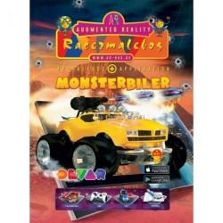 Racermalebog: Monsterbiler: Levende malebog og racerspil i Augmented Reality