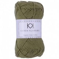8/4 Warm Olive KK Color Cotton økologisk bomuldsgarn fra Karen Klarbæk