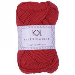 8/4 Poppy Red - KK Color Cotton økologisk bomuldsgarn fra Karen Klarbæk
