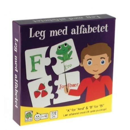 Leg med alfabetet: fra 4 år